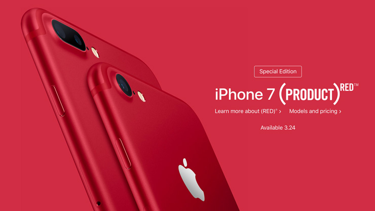 Apple презентовала iPhone 7 и iPhone 7 Plus (PRODUCT)RED Special Edition [+ видео]