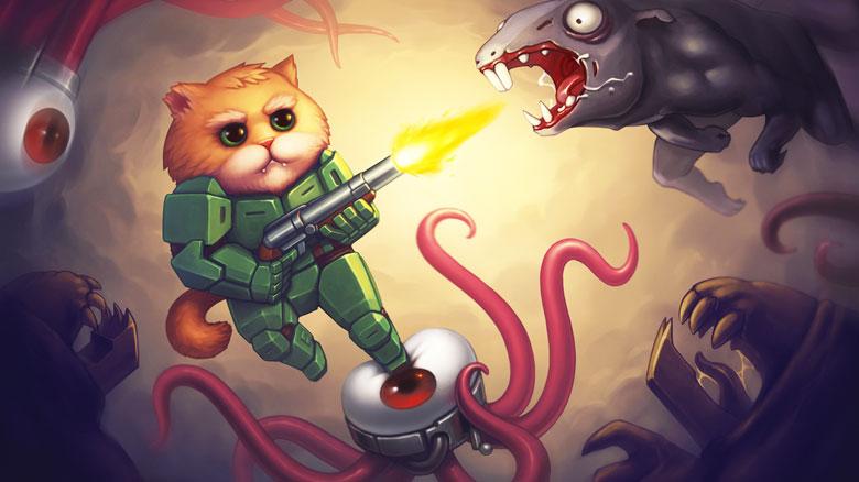 Сыграйте за бронированного котейку Armored Kitten [от разработчиков Dead Plague]
