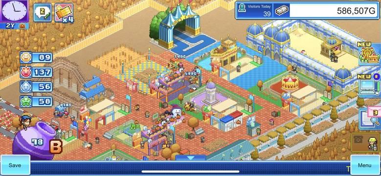 «Dream Park Story» – постройте свой парк развлечений в стиле Kairosoft