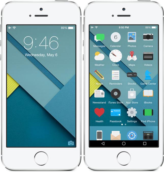 Андроид В Стиле Iphone