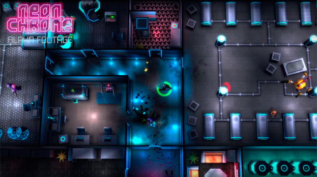 «Neon Chrome» — top-down shooter в киберпанк сеттинге от создателей Crimsonland
