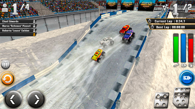 «SuperTrucks Offroad» — гоночная игра в духе «Rock n' Roll Racing»