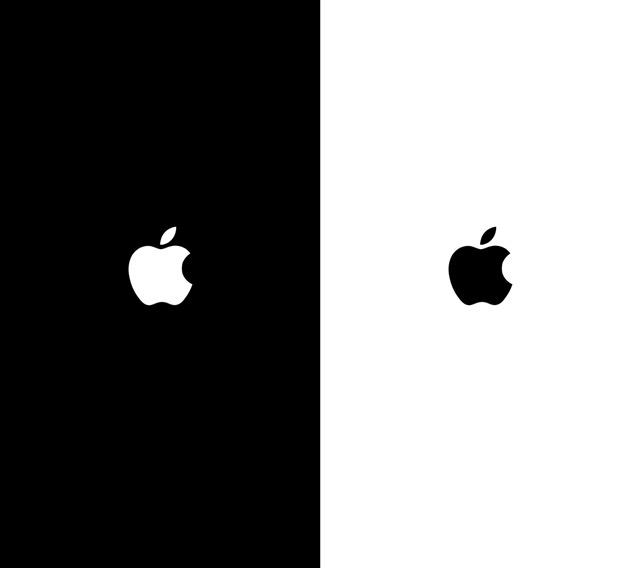 Черный экран и яблоко что делать